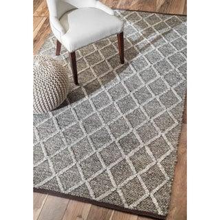 nuLOOM Contemporary Flatweave Trellis Wool Rug (5' x 8')