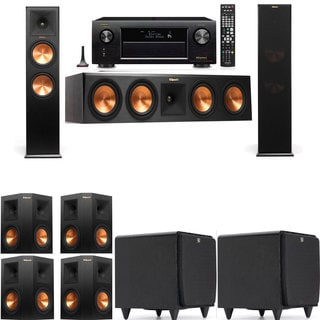 Klipsch RP-280F Tower Speakers-SDS12-7.2-Denon AVR-X4100W