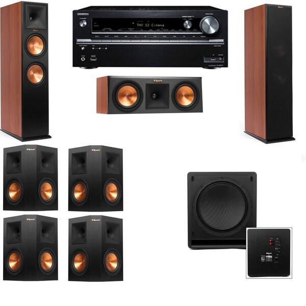 Klipsch RP-280F Tower Speakers CH-RP-250C-SW-112-7.1-Onkyo TX-NR838