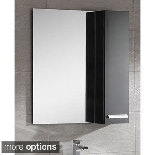 "Somette Atwood 24"" Mirror With Side Cabinet"