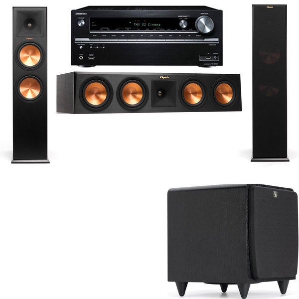 Klipsch RP-280F Tower Speakers-SDS12-3.1-Onkyo TX-NR838