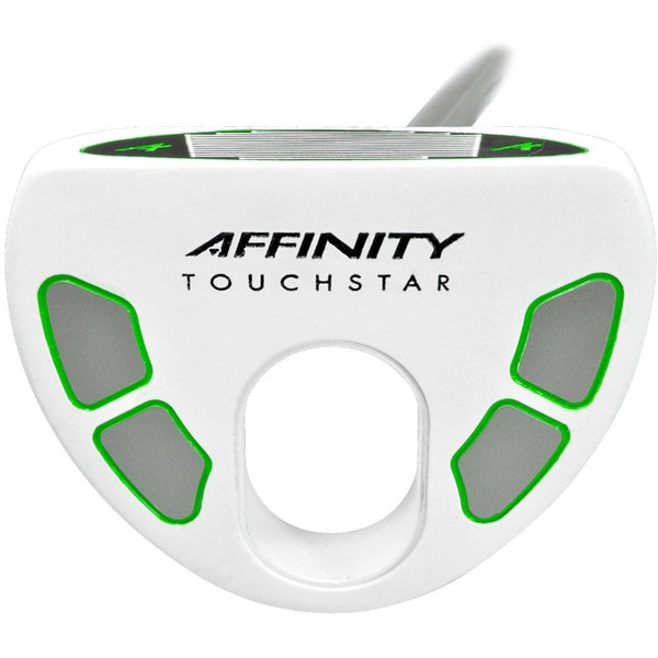 Affinity Golf TouchStar White/ Green Right Hand 43-inch Belly Putter