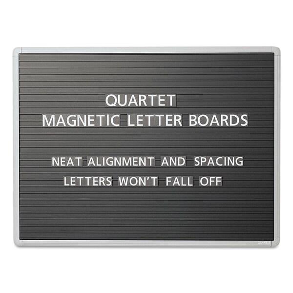 Quartet Black Magnetic Wall Mount Letter Board