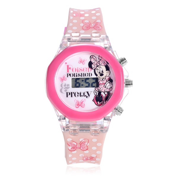 Disney Minnie Mouse Flashing Lights Strap Watch