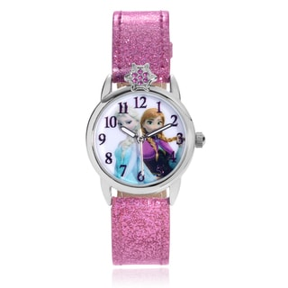 Disney Rhinestone Frozen Anna and Elsa Glitter Strap Watch