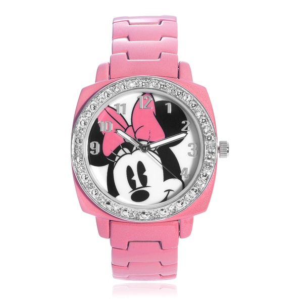 Disney Rhinestone Minnie Mouse Link Watch