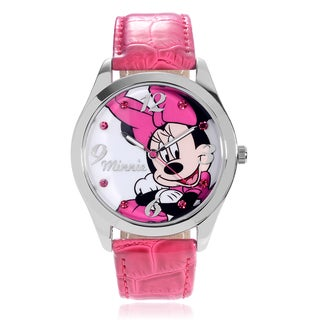 Disney Rhinestone Minnie Mouse Strap Watch