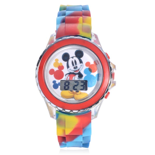 Disney Mickey Mouse Flashing Lights Strap Watch