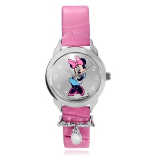 Disney Minnie Mouse Leather Strap Watch