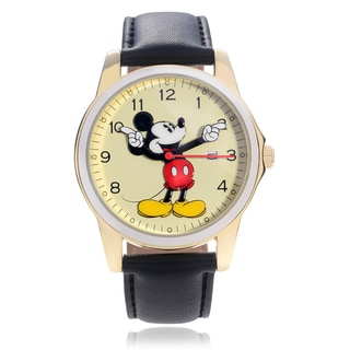Disney Mickey Mouse Character Leather Strap Watch