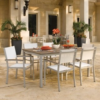 Oxford Garden Travira 7-piece 63 inch Table Set, Tekwood Vintage