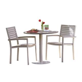 Oxford Garden Travira 3-piece 32 inch Bistro Table Set