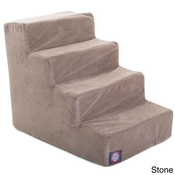 Majestic Pet 4-step Suede Pet Stairs in Stone (As Is Item)