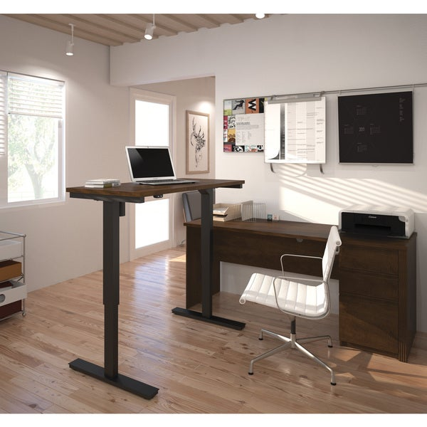 Bestar Prestige L Desk Including Electric Height