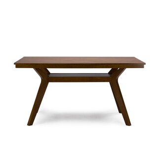 Montreal Mid-Century Solid Wood Dining Table