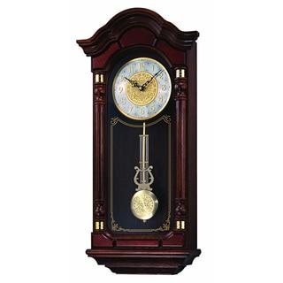 Seiko Dark Brown Solid Oak Case Hand-rubbed Finish Pendulum Wall Clock
