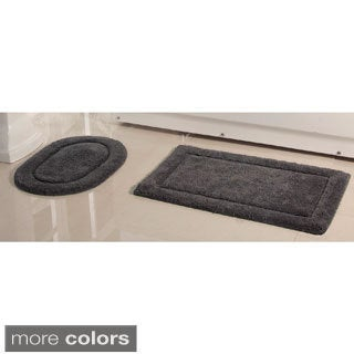 2-Piece 100 Cotton Bath Rug