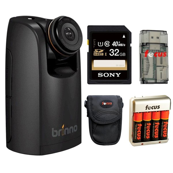 Brinno TLC200 Pro HDR Time Lapse Video Camera with Sony 32GB SDHC Card and Accessory Kit