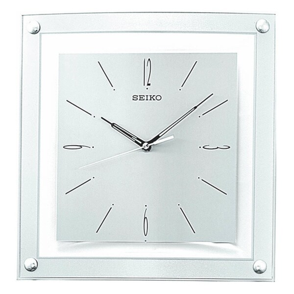 Seiko Quiet Sweep Second Hand Silvertone Metallic Case Wall Clock