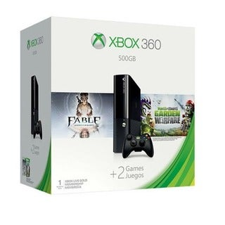 Microsoft Xbox 360 500GB w/ Fable Anniversary and Plants vs. Zombies: Garden Warfare Bundle