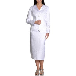 Danillo Women's White 2pc Skirt Suit