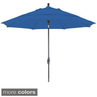 Somette 11-foot Bronze Finish and Olefin Fabric Market Umbrella