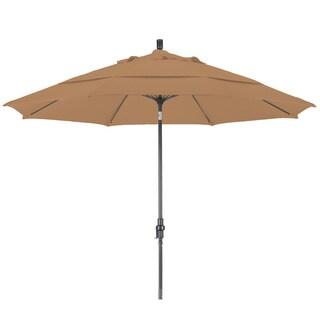 Somette 11-foot Bronze Olefin Fabric Outdoor Umbrella