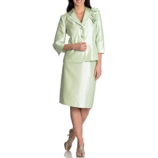 Danillo Women's 3/4-sleeve 2-piece Skirt Suit