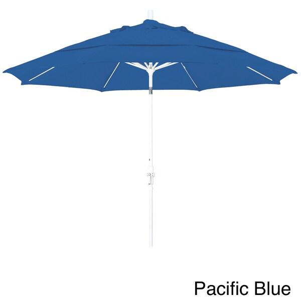 Somette 11-foot Matted White Finish and Sunbrella Fabric Market Umbrella