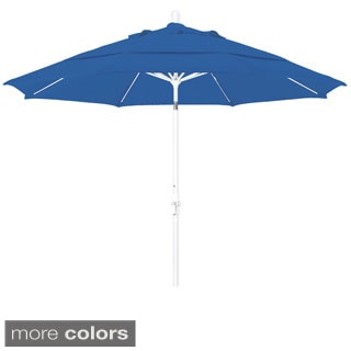 Somette 11-foot Matted White Finish and Olefin Fabric Market Umbrella