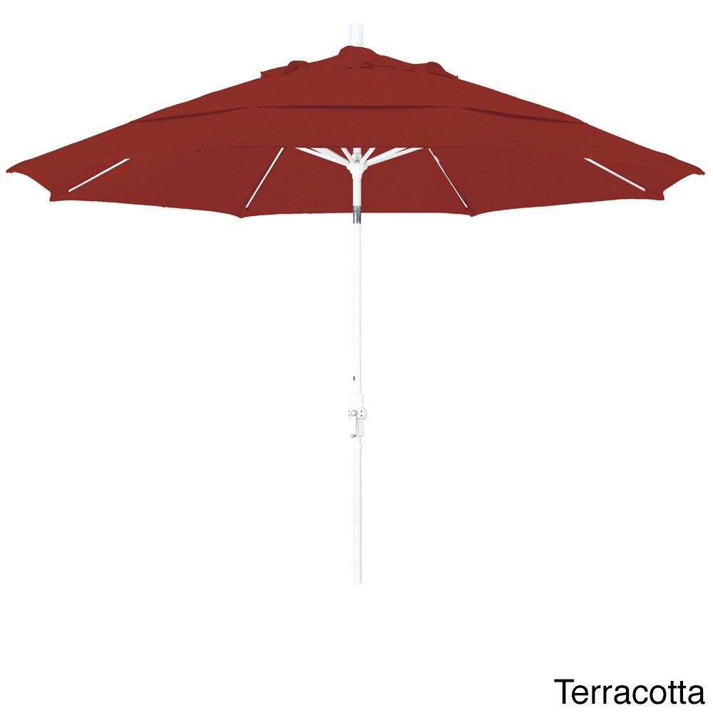 Somette 11-foot Matted White Olefin Market Umbrella