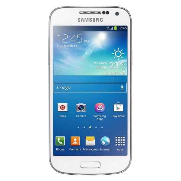 Samsung Galaxy S4 Mini DUOS I9192 Unlocked GSM Dual-SIM Phone - White (Refurbished)