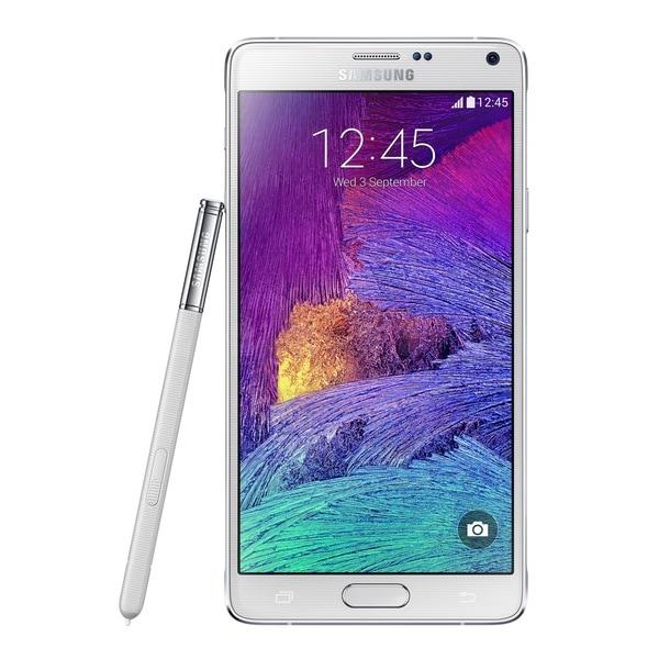 Samsung Galaxy Note 4 N910C 32GB Unlocked GSM 4G LTE Octa-Core Phone - White Refurbished)