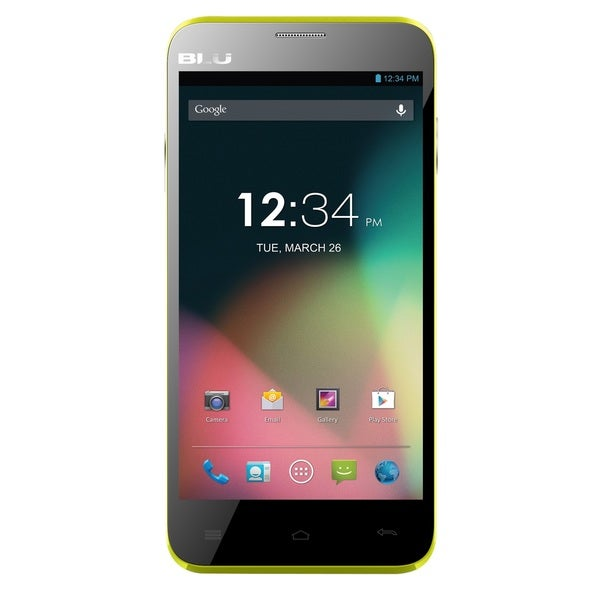 BLU Dash 5.0+ D412u Unlocked GSM Dual-SIM Quad-Core Android Phone - Yellow (Refurbished)