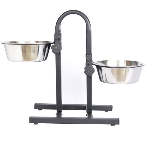 Iconic Pet Stainless Steel Adjustable Pet Double Diner 15455824
