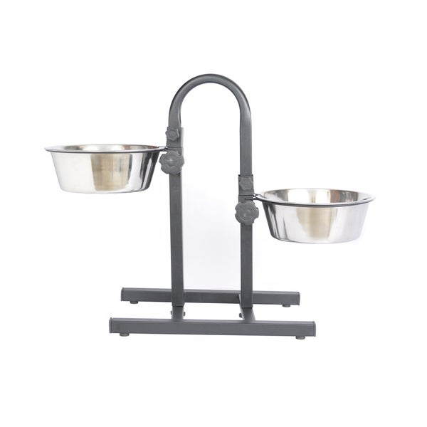 Iconic Pet Stainless Steel Adjustable Pet Double Diner 15455825