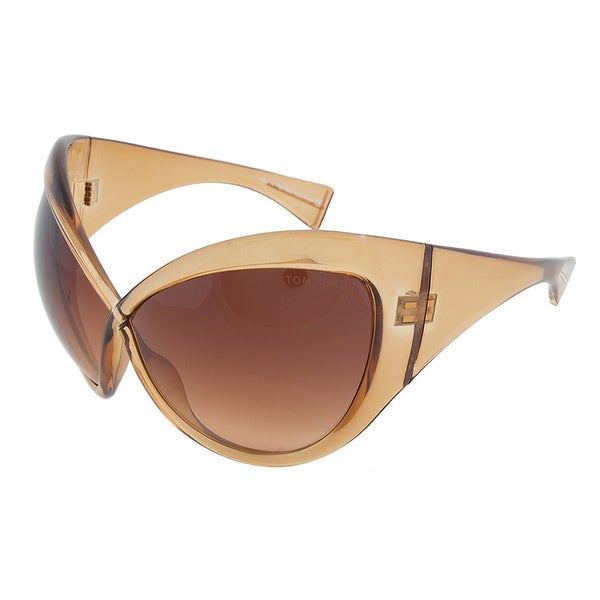 Tom Ford Daphne FT0219 45F Gold Translucent Cateye Sunglasses