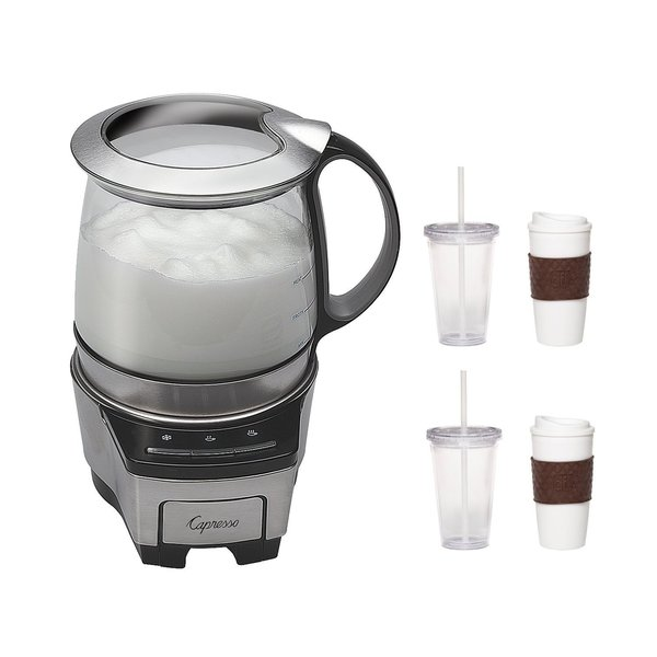 Capresso 206.05 Froth TEC Automatic Milk Frother with 2-Pack Coffee Mug and Iced Beverage Cup 15455854