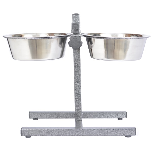 Iconic Pet Stainless Steel Adjustable Dog Double Diner Feeder 15455856