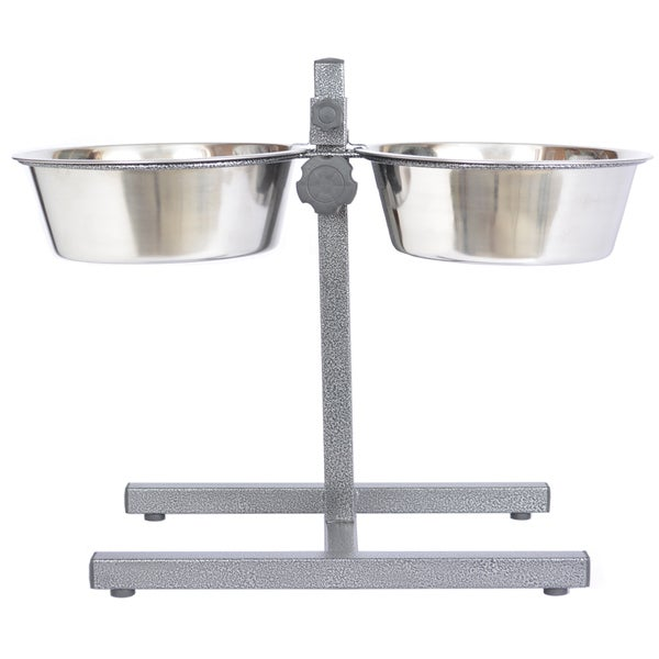 Iconic Pet Stainless Steel Adjustable Dog Double Diner Feeder 15455858
