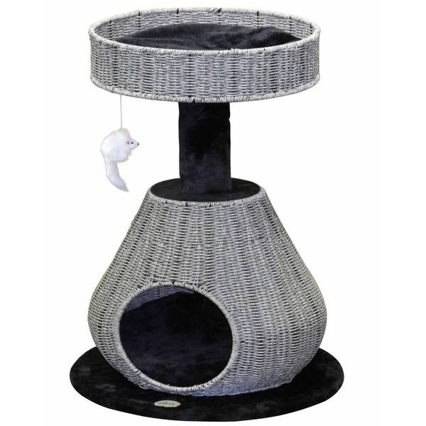 GoPetClub Rattan Wicker Cat Tree Furniture