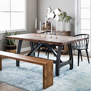 Ink+Ivy Lancaster Adjustable Height Dining Table