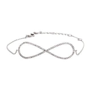 NEXTE Jewelry Cubic Zirconia Encrusted Infinity Chain Bracelet