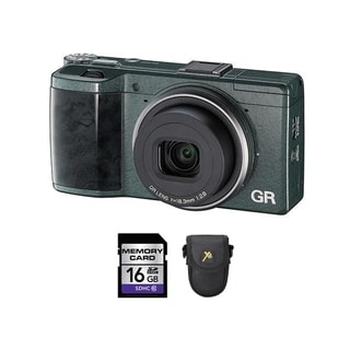 Ricoh GR Green Limited Edition Digital Camera with 16GB Card and Case Bundle