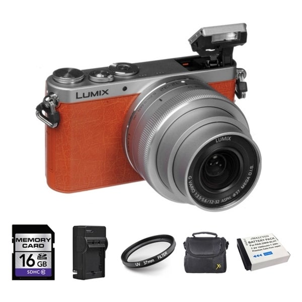 Panasonic DMC-GM1 Orange Digital Camera with 12-32mm Lens/ 2 Batteries and 16GB Card Bundle