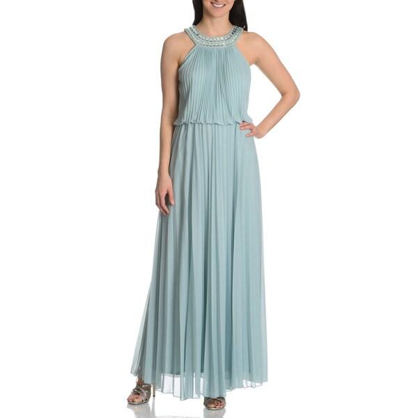 Cachet Women's Jewel Embellished Halter Gown