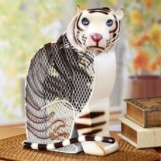 White Tiger Figurine Fan