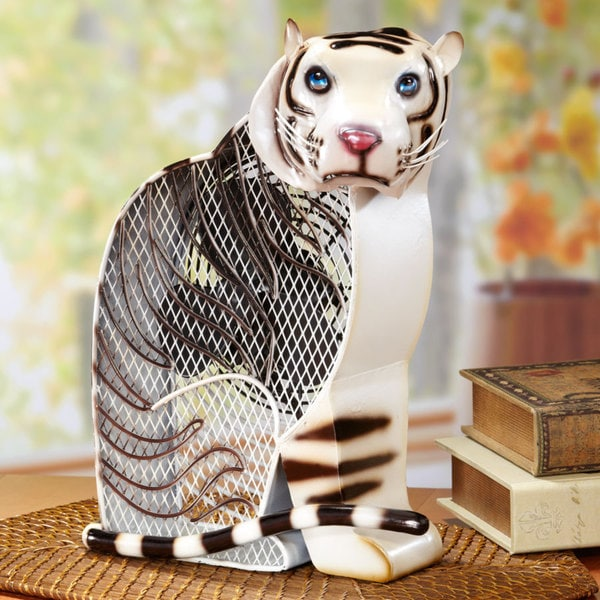 White Tiger Figurine Fan