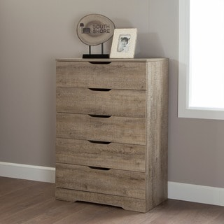 South Shore Holland Pure Black 5-drawer Chest