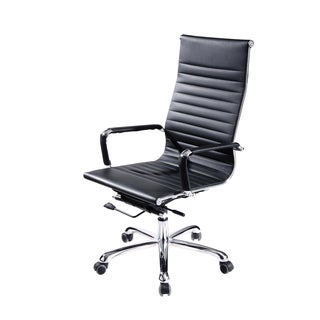 Modrest Scroll Modern Black Eco-leather Office chair
